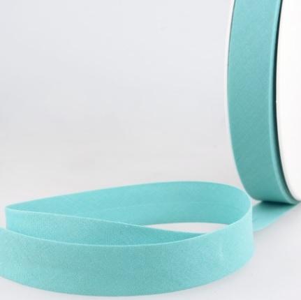 Biais uni 20 mm Bleu acier