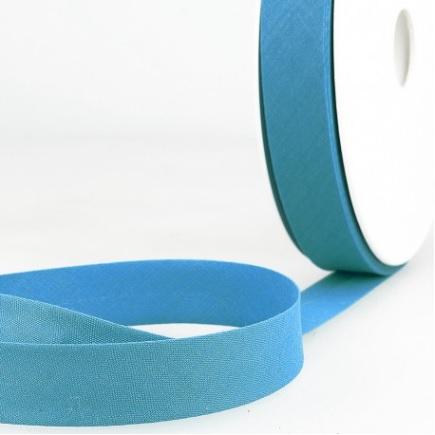 Biais uni 20 mm Bleu gitan
