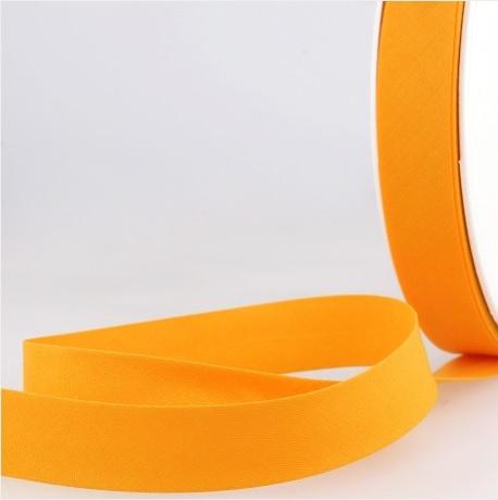 Biais uni 20 mm jaune orangé