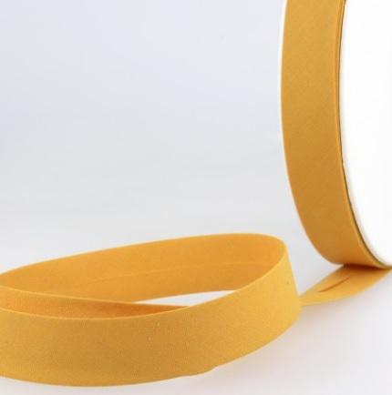 Biais uni 20 mm moutarde