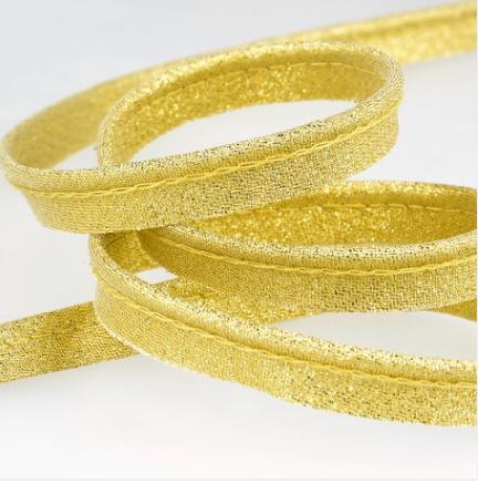Passepoil métallisé 10 mm doré lurex
