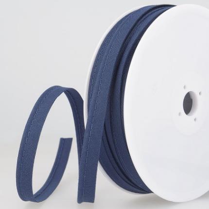 Passepoil tout textile 10 mm Bleu marine