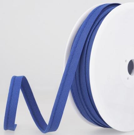 Passepoil tout textile 10 mm Bleu roi