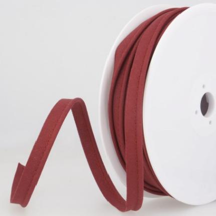 Passepoil tout textile 10 mm bordeaux