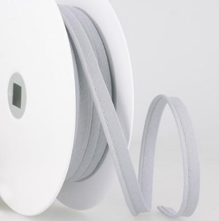 Passepoil tout textile 10 mm Gris moyen