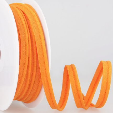 Passepoil tout textile 10 mm Orange