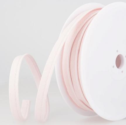 Passepoil tout textile 10 mm Rose clair