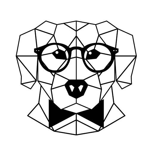 Transfert thermocollant petit modèle Chien origami