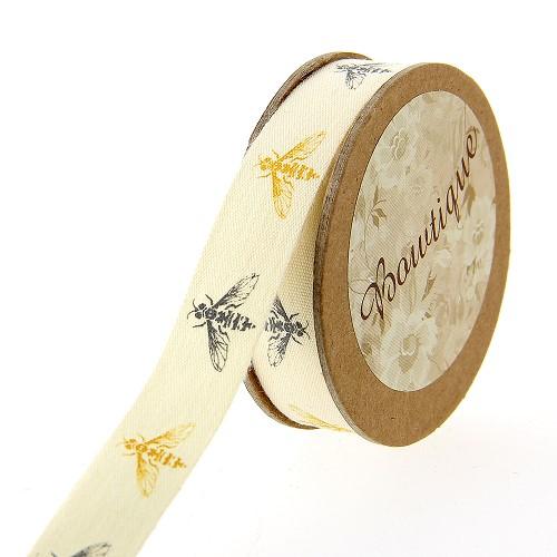 Bobine ruban coton Abeille 5m 15mm