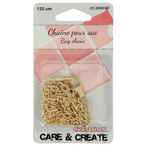Chaine sac 120 cm or