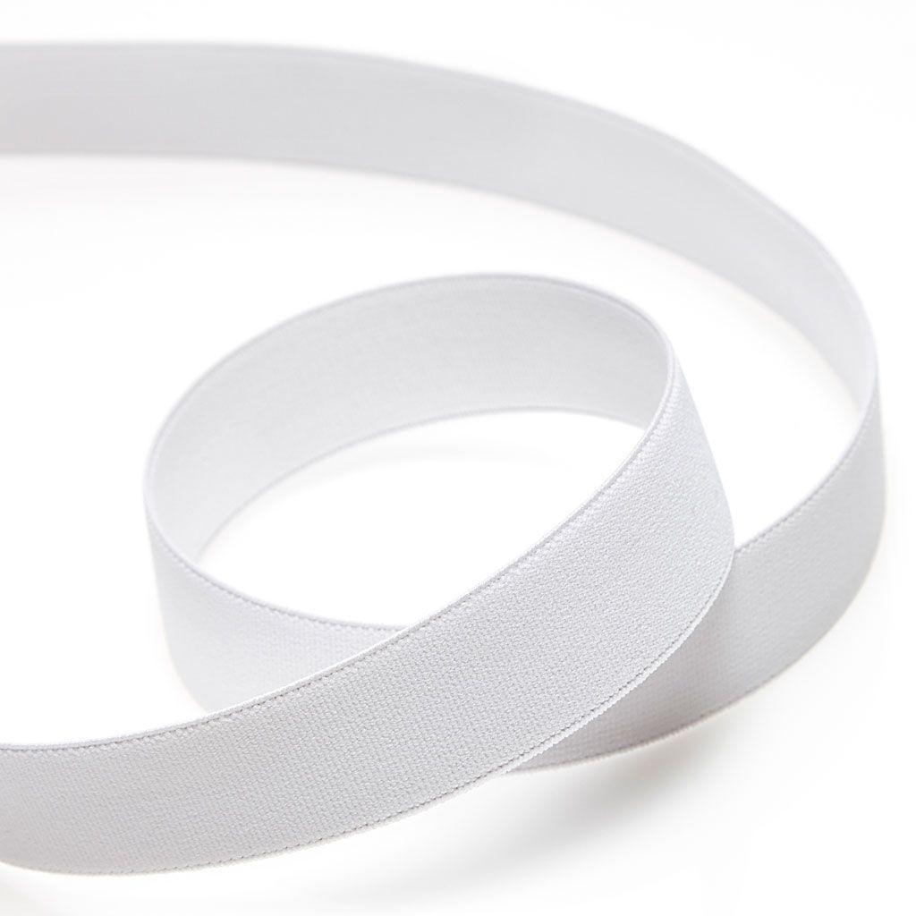Elastique cotelé 25 mm Blanc