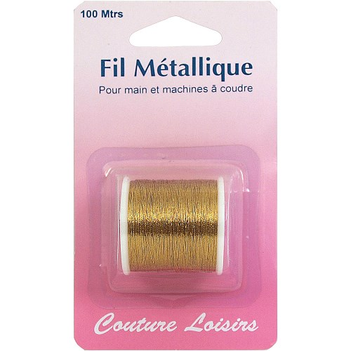 Bobine de fil métallique or