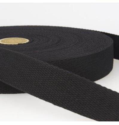 Sangle coton 23 mm Noir