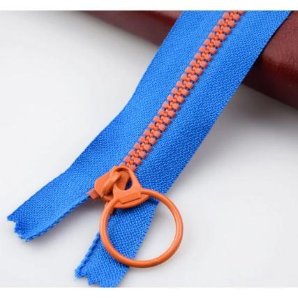 Fermeture non séparable 30 cm  Bleu / orange