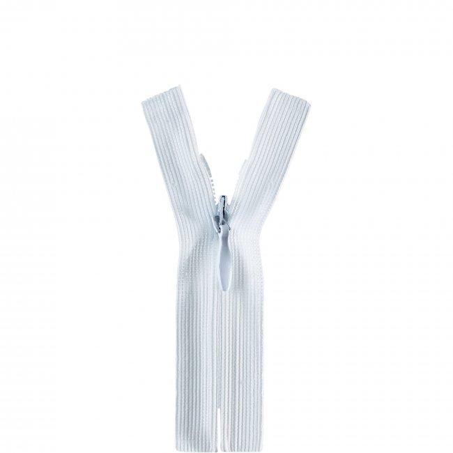 Fermeture non séparable invisible blanc 120cm