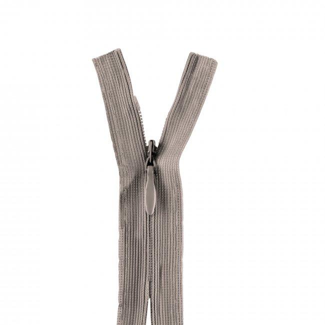 Fermeture non séparable invisible gris 120cm
