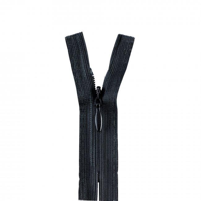 Fermeture non séparable invisible noir 120 cm