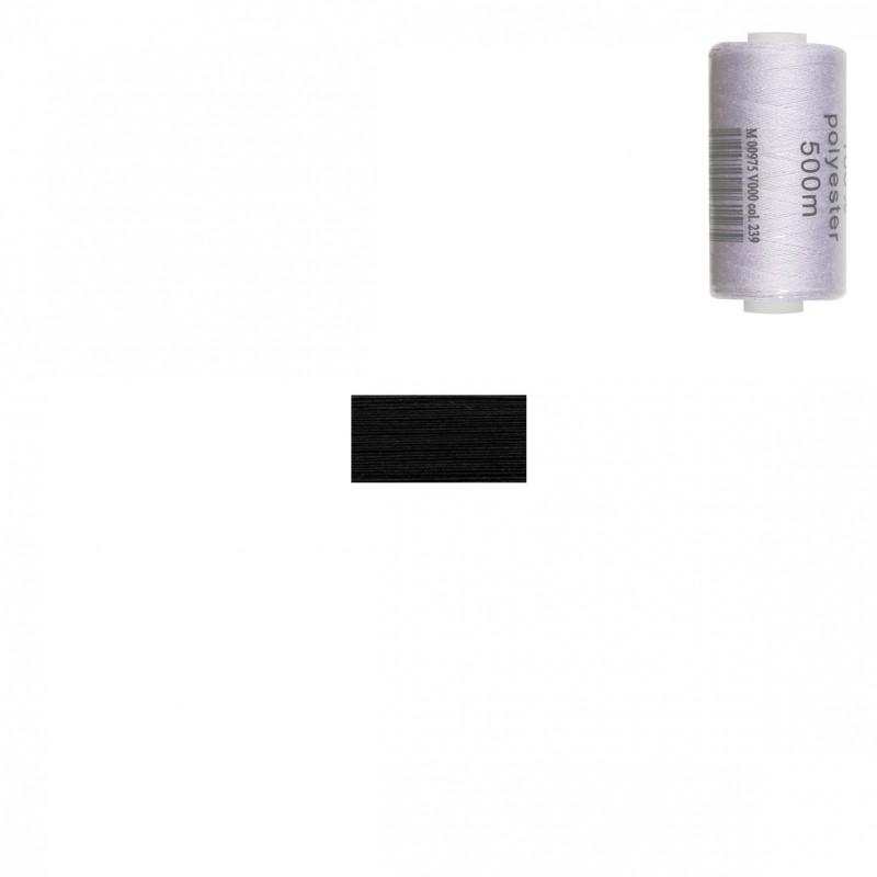 Bobine 500m fil polyester Noir