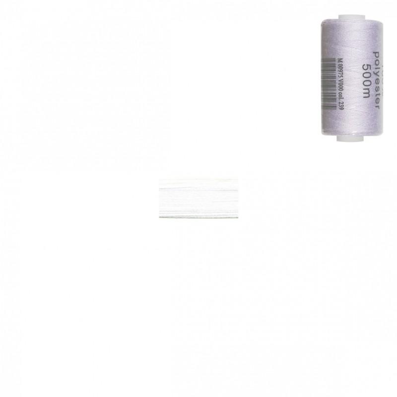 Bobine 500m fil polyester Blanc
