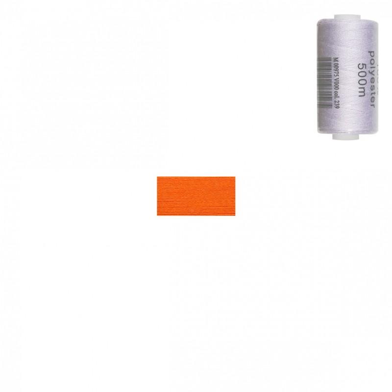 Bobine 500m fil polyester Orange