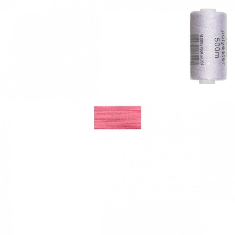 Bobine 500m fil polyester Rose bonbon