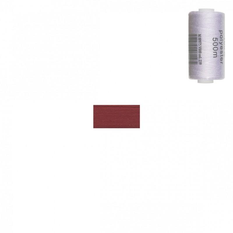 Bobine 500m fil polyester Cerise