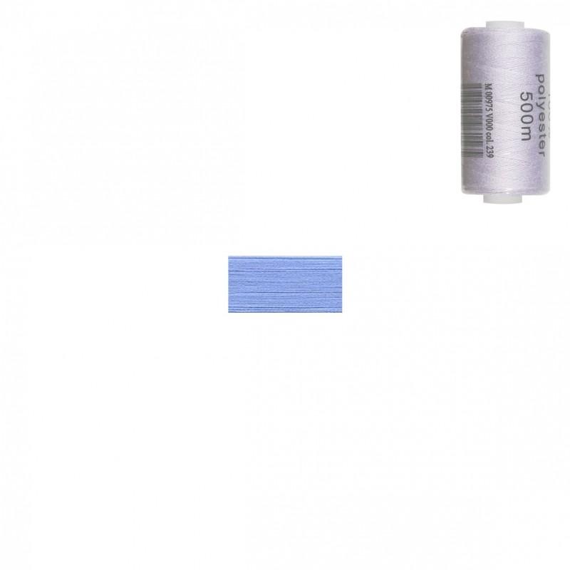 Bobine 500m fil polyester Bleu layette
