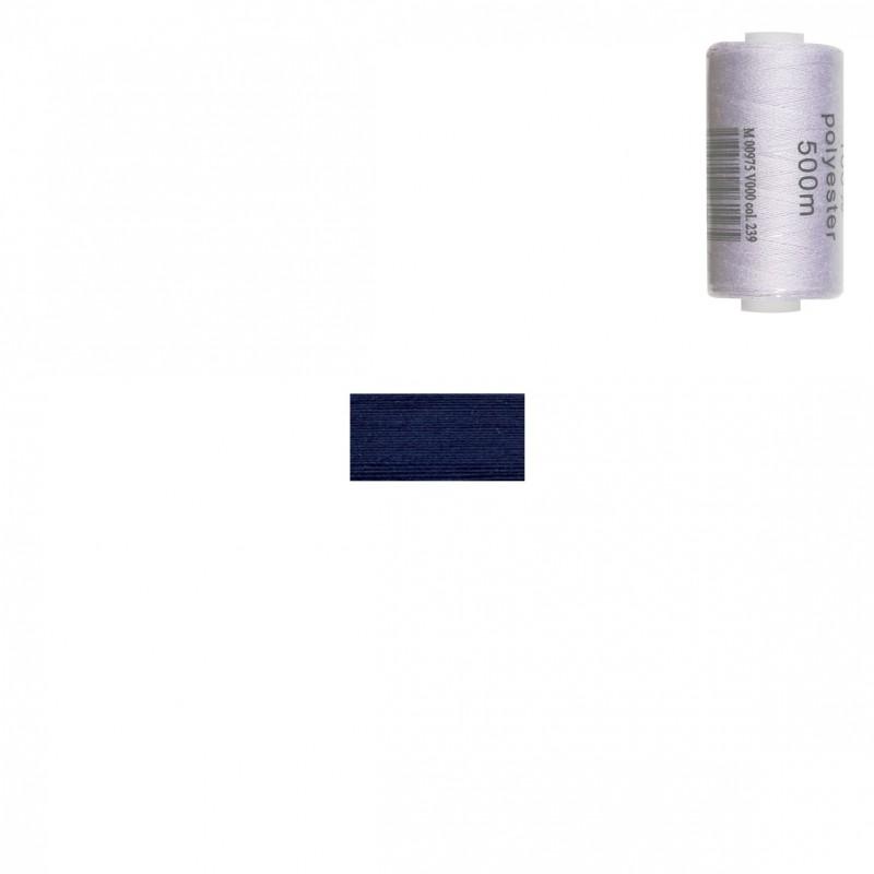 Bobine 500m fil polyester Bleu de France
