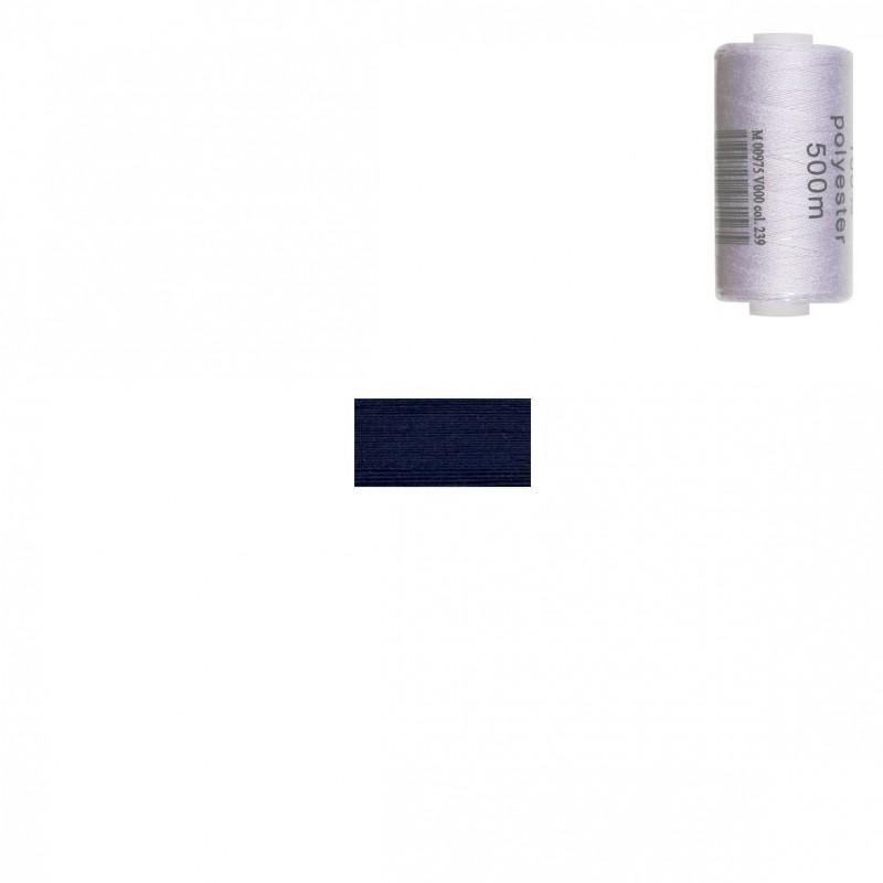 Bobine 500m fil polyester Bleu marine foncé