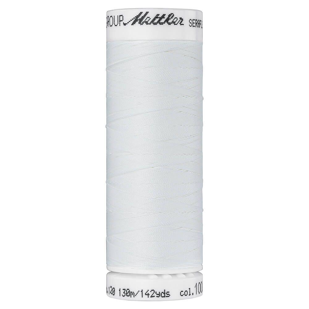 Fil à coudre élastique Seraflex Mettler 130 m n°1000 Ecru