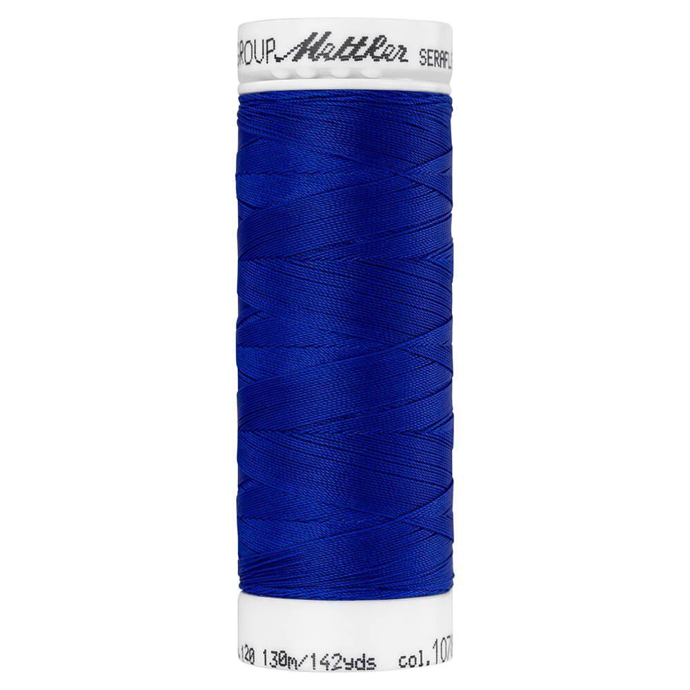 Fil à coudre élastique Seraflex Mettler 130 m n°1078 Bleu foncé