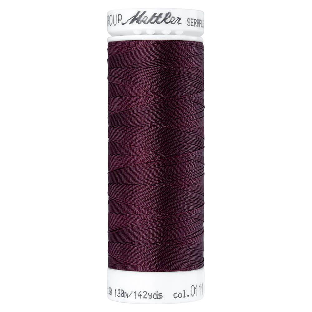 Fil à coudre élastique Seraflex Mettler 130 m n°111 Betterave rouge