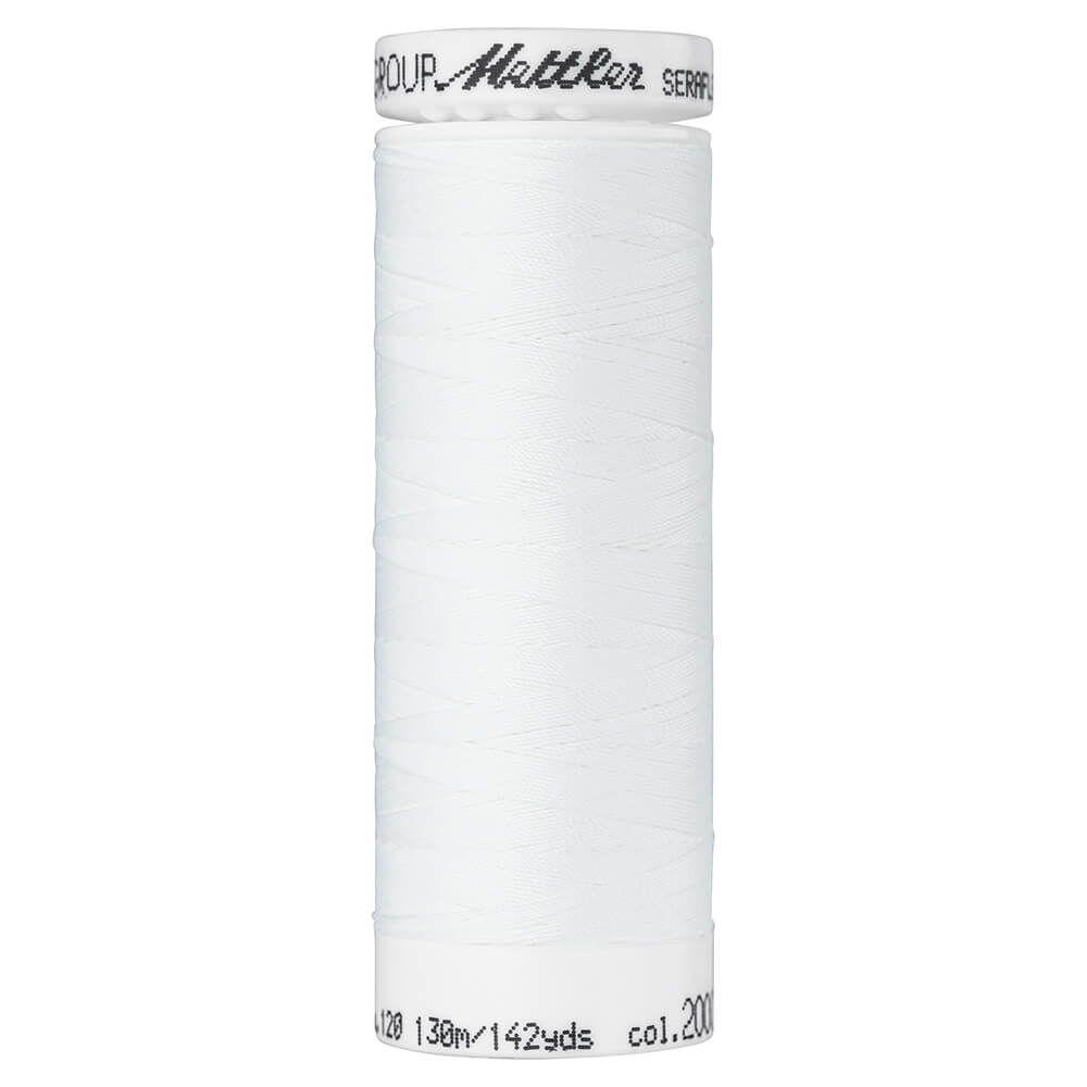 Fil à coudre élastique Seraflex Mettler 130 m n°2000 Blanc