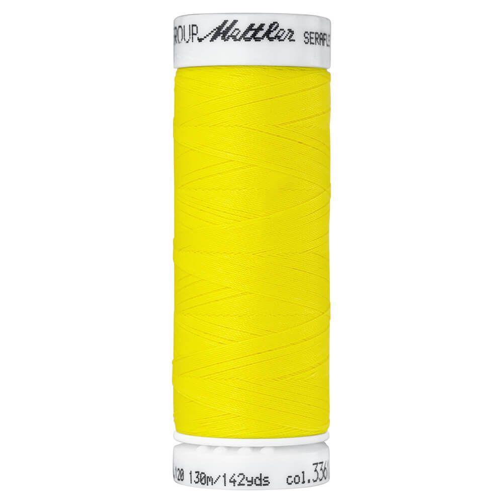 Fil à coudre élastique Seraflex Mettler 130 m n°3361 Jaune