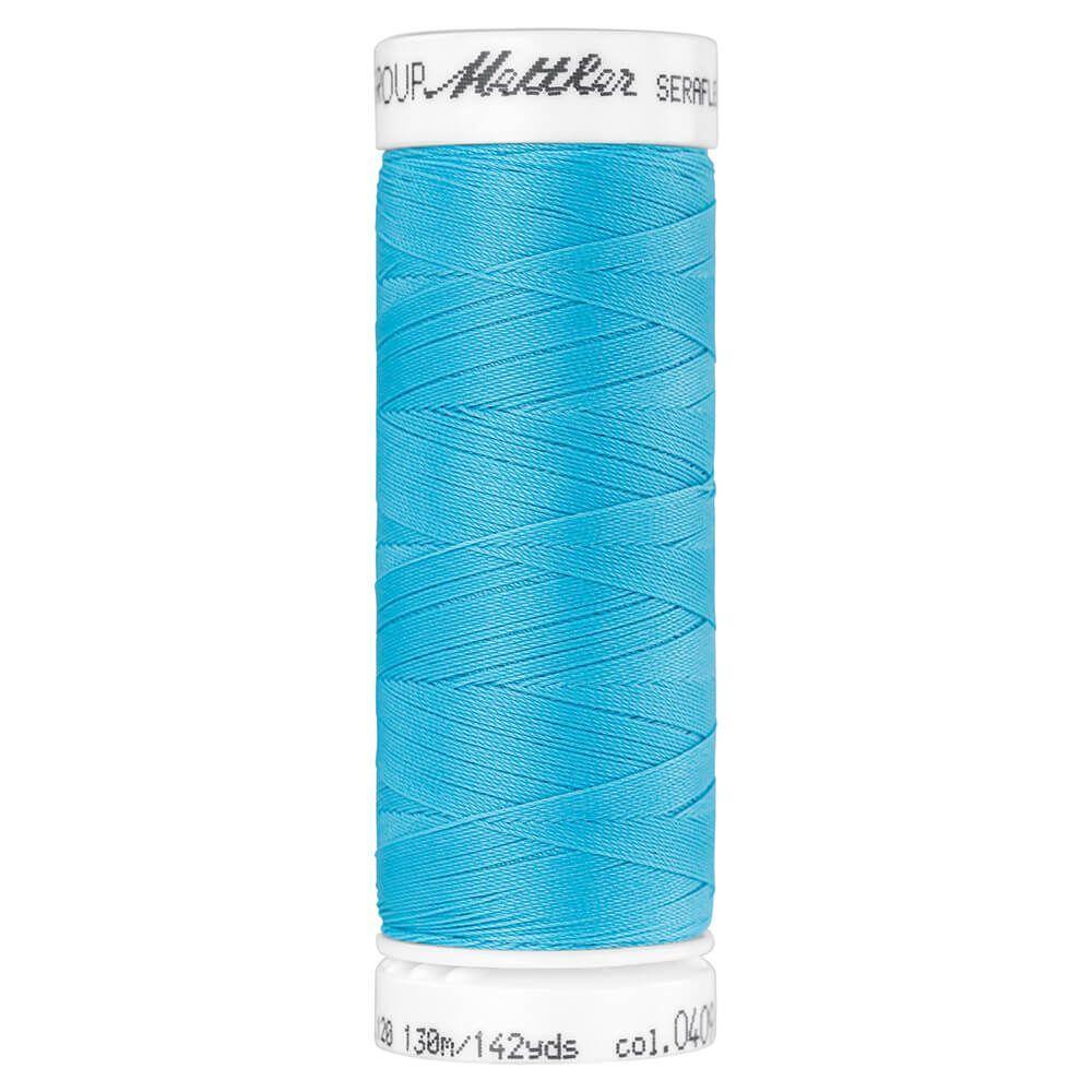 Fil à coudre élastique Seraflex Mettler 130 m n°409 Bleu turquoise
