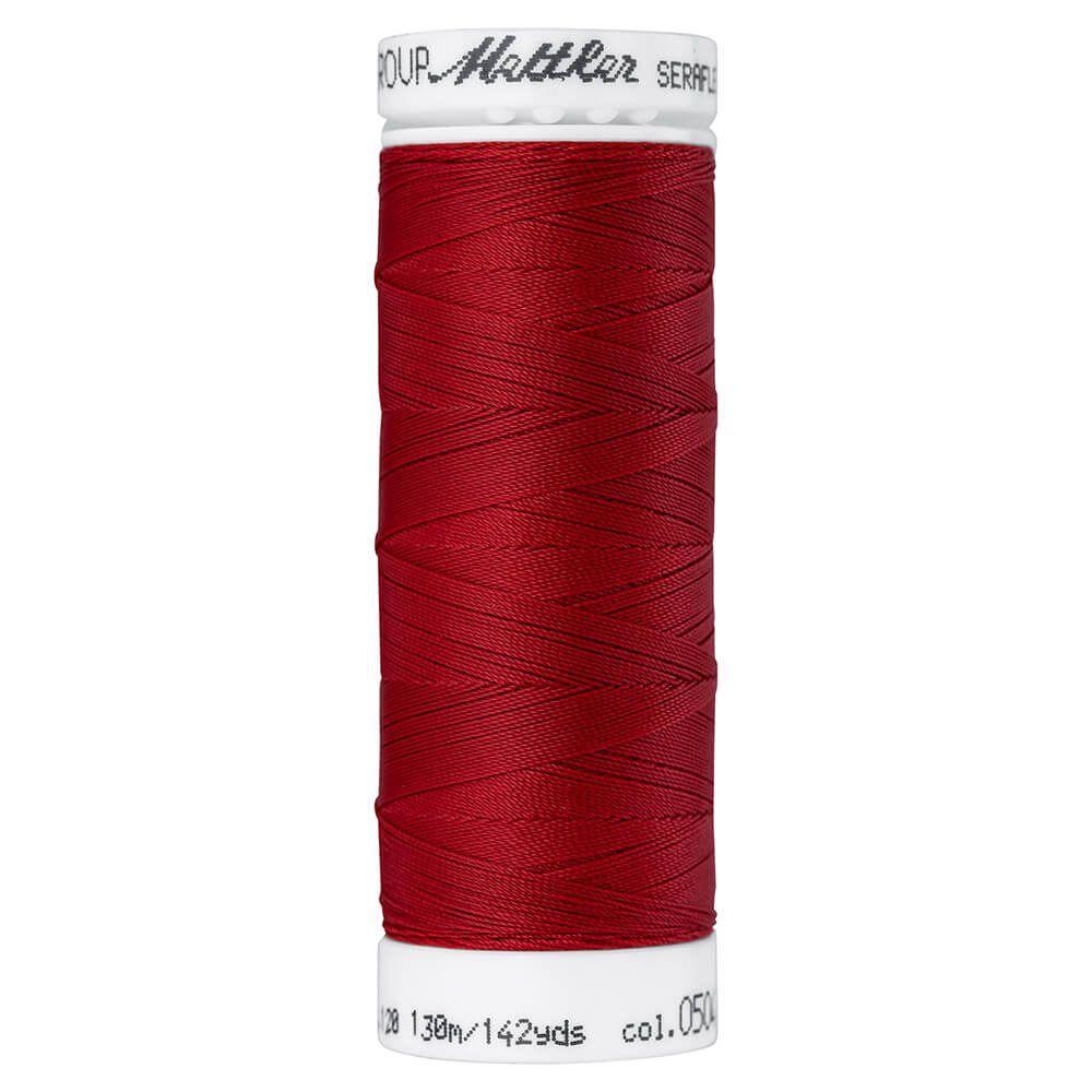 Fil à coudre élastique Seraflex Mettler 130 m n°504 Feu rouge