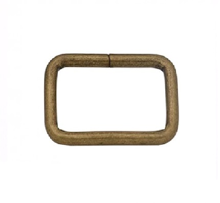 Anneau rectangulaire 25 mm bronze