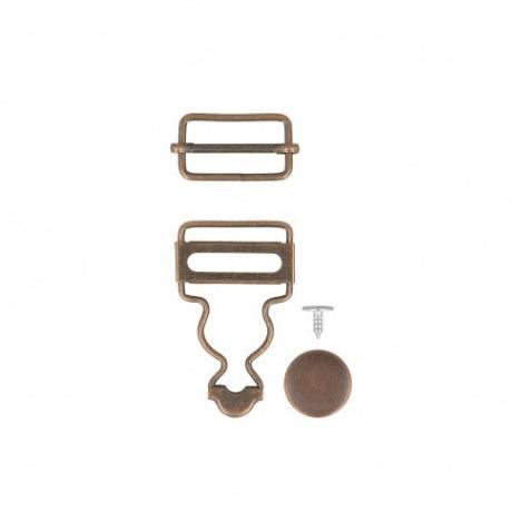 Boucles salopettes bronze 25 mm