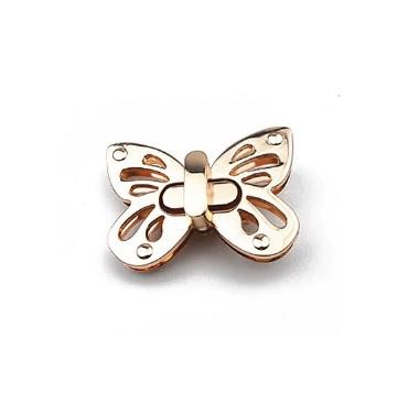 Fermoir Tourniquet papillon – or