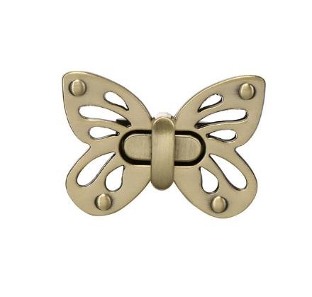 Fermoir Tourniquet papillon – or brossé