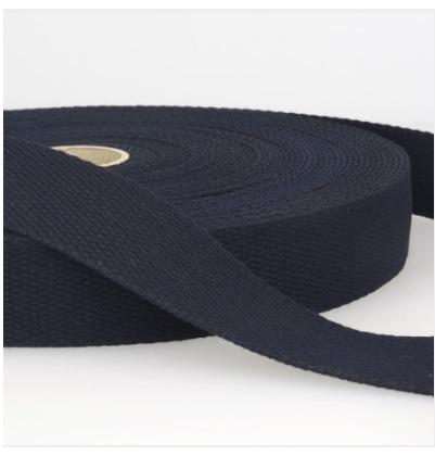 Sangle coton 30 mm Bleu marine
