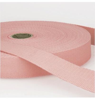 Sangle coton 30 mm Rose pâle