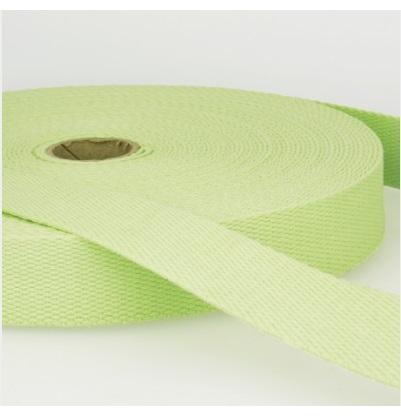 Sangle coton 30 mm Vert pastel