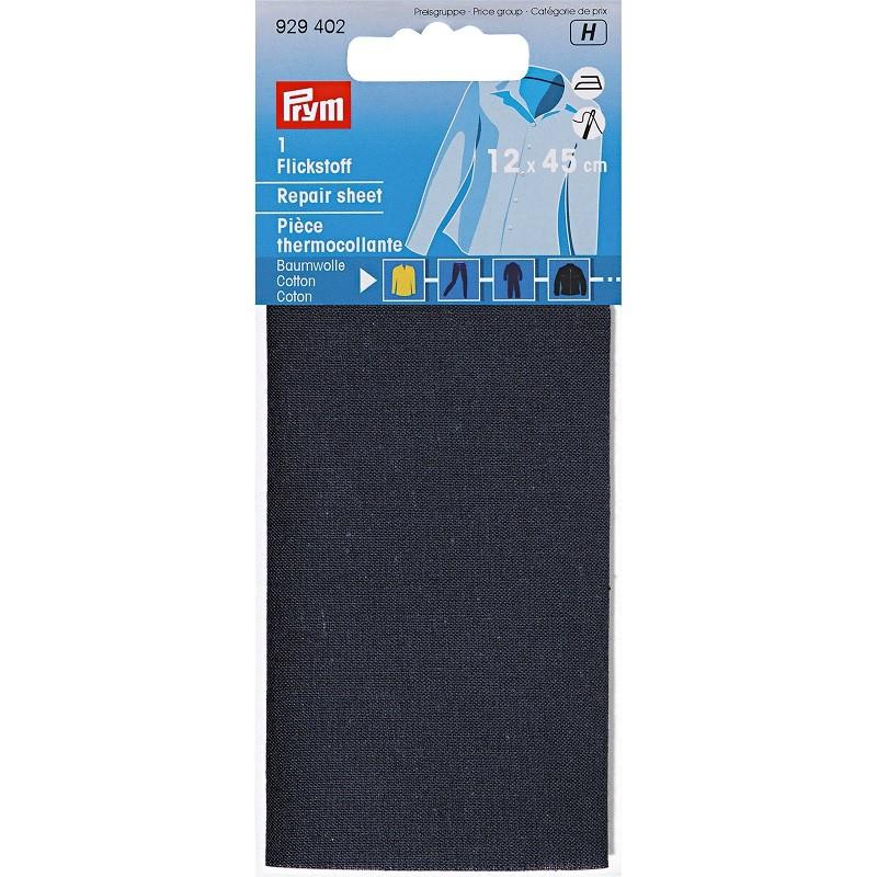 Tissu thermocollant coton bleu marine