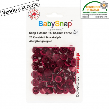 20 pressions Baby snap Bordeaux