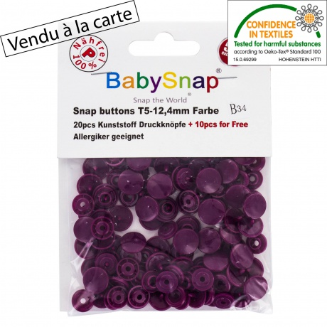 30 pressions Baby snap Prune