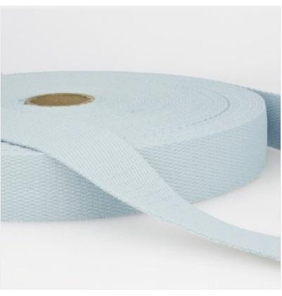 Sangle coton 30 mm Bleu ciel