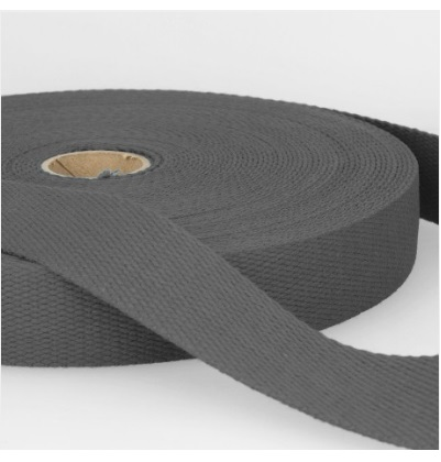 Sangle coton 30 mm Gris noir
