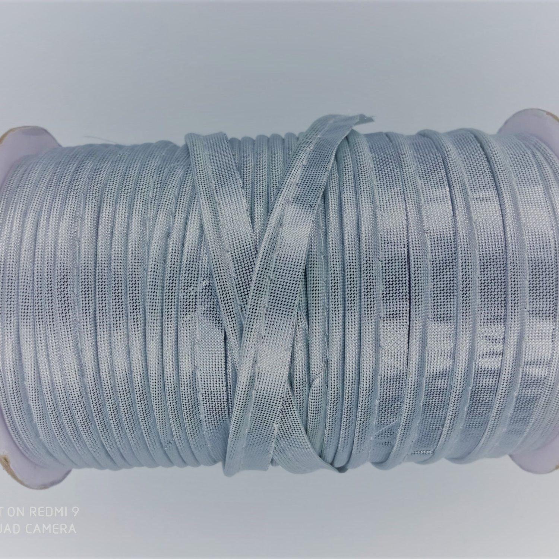 Passepoil métallisé  en polyester 10 mm argenté