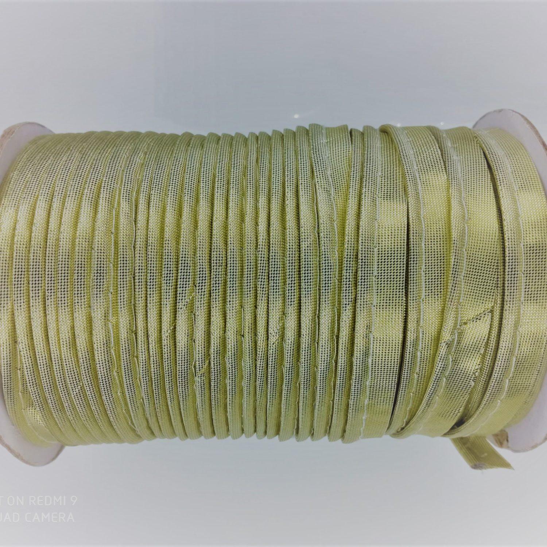 Passepoil métallisé en polyester 10 mm doré